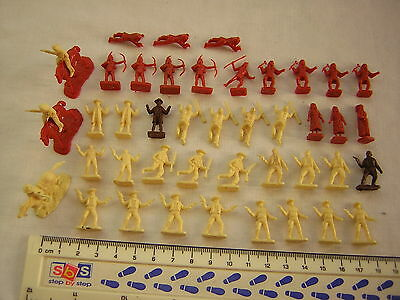42 X Airfix Mixed American Cowboys & Indians / Native Americans  Scale 1:72
