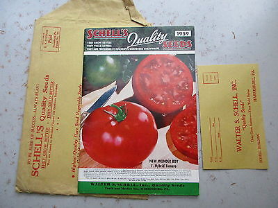 Schell's Quality Seeds 1959 Catalog - Harrisburg PA, In Envelope