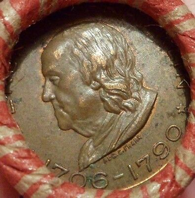 Estate Mixed Cent Roll with Old Ben Franklin Token / VF 1903 Indian Head Cent r9