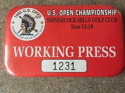 Stunning 1995 US Open Press Badge From Shinnecock Hills Golf Club