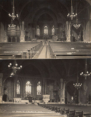 St Marys Church Addiscombe Sussex 2x Antique Real Photo Postcard s