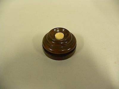 Vintage Antique Electric Weighted Wood Desk Door Bell Push Button (A10)