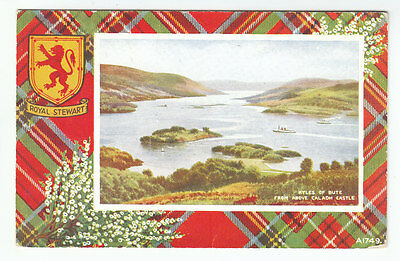 Kyles Of Bute From Above Caladh Castle Royal Stewart Tartan 7 Jul 1950 Duncan