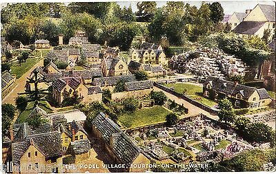 Bourton on the Water, Model Village, coloured postcard, posted 1951