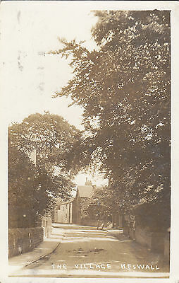RP Postcard The Village  Heswall    1914