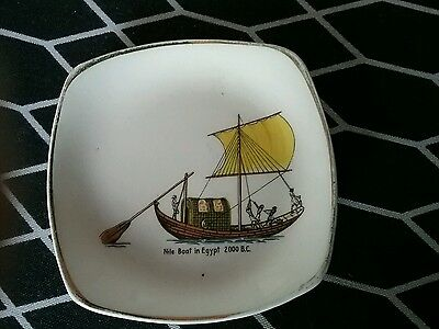 Midwinter stylecraft 'nile boat in egypt' square pin dish