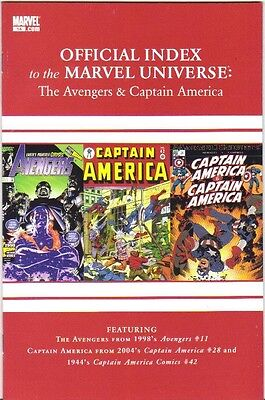 Official Index to the Marvel Universe #14 Avengers & Captain America VFN (2010)