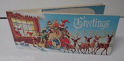 10 Vintage POP UP Christmas Cards - Santa Claus Scenes