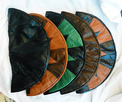 Hand Made Retro Style Genuine Leather Pouffe  Footstool - New / Assorted Colours