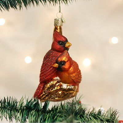 Pair of Cardinals Old World Christmas Tree Ornament NWT - 16045