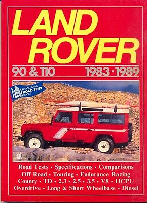 Land Rover 90 & 110 1983-1989 VERY USEFUL BROOKLANDS BOOK