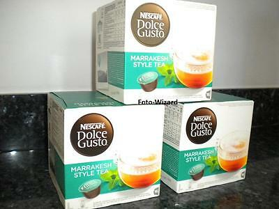 Nescafe Dolce Gusto 48 Marrakesh Style Tea Pods New 3 Boxes X 16