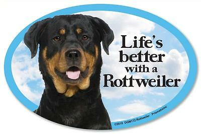 Life's Better With A Rottweiler Dog Car Fridge Plastic Magnet