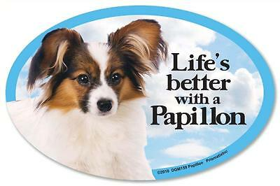 Life's Better With A Papillon Dog Car Fridge Plastic Magnet