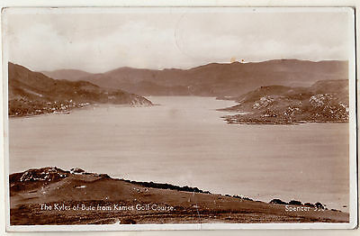 The Kyles Of Bute From Kames Golf Course 1938 Used Rp Postcard Spencer 330