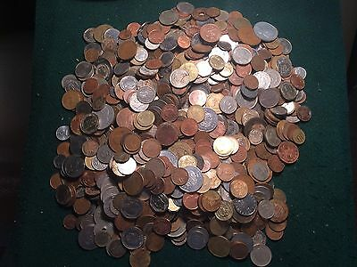 Bulk Lot of 10 Pounds of Various Foreign World Coins Collection Dealer