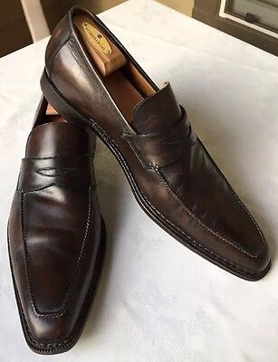 HADLEIGH'S Sutor Mantellassi Brown Leather Mens Dress Shoes Loafer EU 46 / US 13
