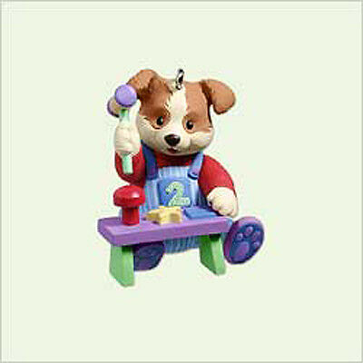 2005 Hallmark BABY Ornament MY 2nd SECOND CHRISTMAS Puppy Boy