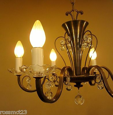 Vintage Lighting circa 1950 Mid Century quality chandelier