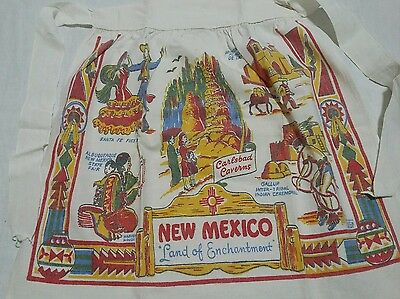 New Mexico Apron Land of Enchantment Vintage