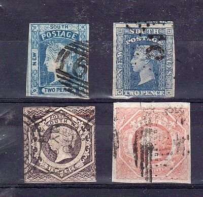 New South Wales - 1854-1860 - used imperforate selection