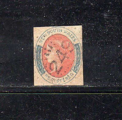 New South Wales - 1856 - (6d) Registered used
