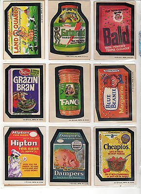 1973 Topps Wacky Packages 4th Series 4 Windhex Clairoil Complete Set 30/30 EX+