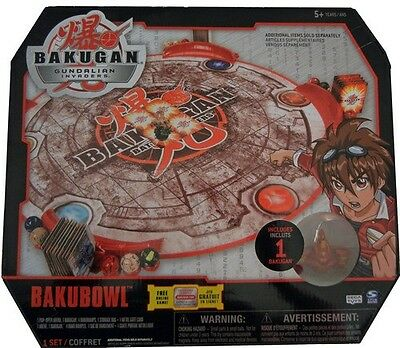 New Bakugan Gundalian Invaders Pop-Open Bakubowl Arena, Gate Card & Bakugan NIB