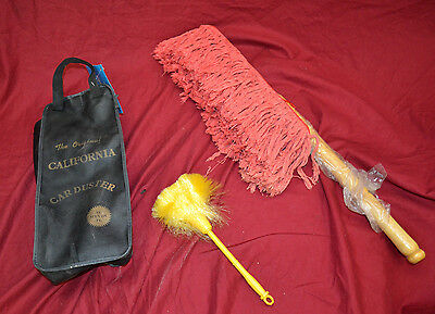 The Original California Duster  Wooden Handle * w/mini duster & carrying bag NEW