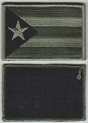 Puerto Rico PR Territorial Flag Patch Hook Fastener OD GREEN/BLACK police