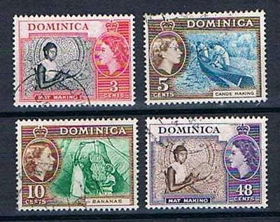 Dominica - 1957 - New Issues for 1954 Pictorials - SC 157-160 - Used