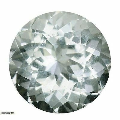 0.985Cts PROPEROUS TOP LUSTER WHITE NATURAL TOURMALINE ROUND LOOSE GEMSTONES