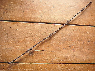 """HAISH'S WALKING CANE WRAPPED 'S"""" BARB on TWO LINES - ANTIQUE BARBED BARB  WIRE"""