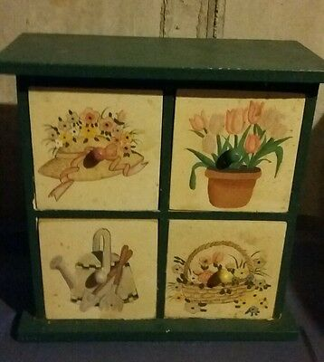 Cute wooden small drawer decor