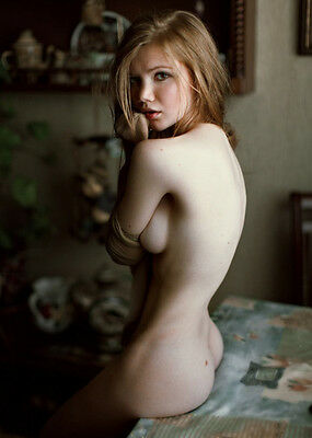Artful Sexy Art Pose Nude Naked Girl Picture Photo of Female Woman