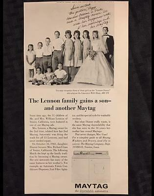 Original 1965 MAYTAG Ad w/ the Lennon Sisters ~ Vintage Advertisement