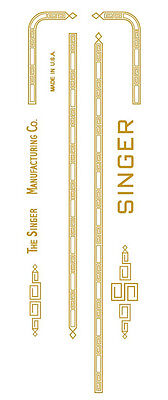 Singer 301 Sewing Machine Restoration Decals Gold Metallic Early Style