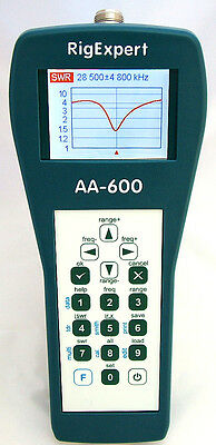 RIGEXPERT AA-600 ANALIZZATORE DI ANTENNA 0.1 to 600 MHz