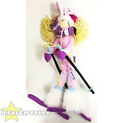 Official Bang On The Door Ski Bunny Doll Christmas Present Toy Stocking Filler