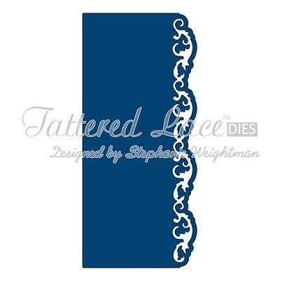 Tattered Lace Die - OVER THE EDGE FLOURISH BORDER - Scrapbooking / cardmaking