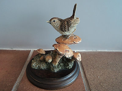 Vintage Signed Large (Country Artists) Wren Bird - (Mint Condition) - Gorgeous.