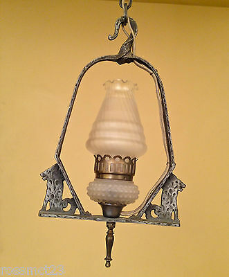 Vintage Lighting 1930 Dog's Head fixture by Virden