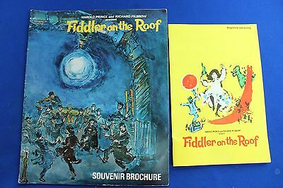 Prince/Pilbrow Fiddler on the Roof Programme + Brochure/Her Majesty Theatre 1967
