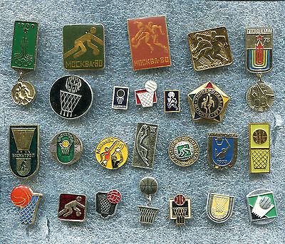 Russia USSR BASKETBALL 24 Pin Badge Medal