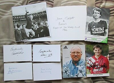 8 Signed Cards & Photos FOOTBALL Autograph (Set W) WORLD CUP 1966 etc ENGLAND
