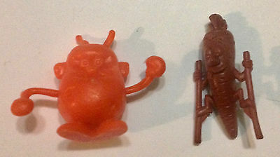R&l 1971 Cereal Toys Veggie Sports - Spudsy Boxer + Stilty Carrot - Kelloggs, Oz