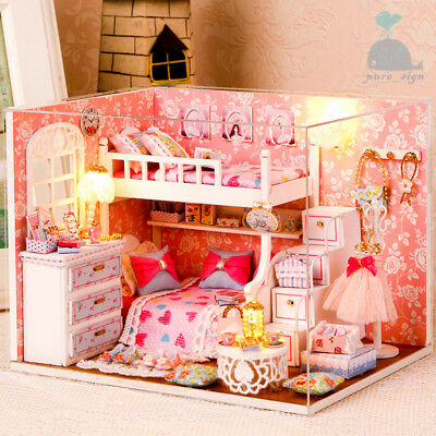 DIY Handcraft Miniature Project Wooden My Summer Trip Diary Greece Dolls House