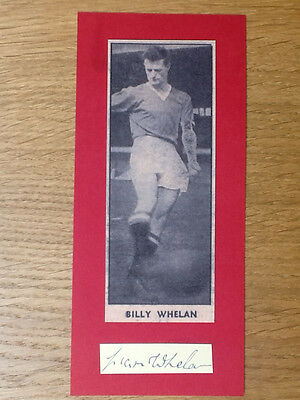Rare Billy 'Liam' Whelan signed card  Manchester United autograph Busby Babe