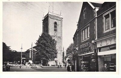 Early HIGH WYCOMBE Church Street - church, shops, people