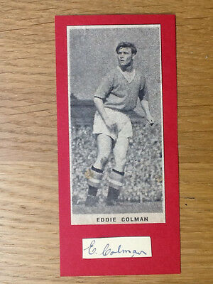 Eddie Colman signed card Manchester United autograph Busby Babe original picture